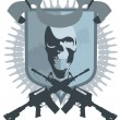 Постер, плакат: Emblem gangster vector