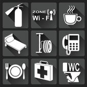 Set of car service icons Vector illustration
