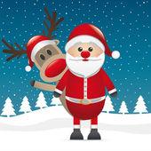 Rudolf sob červený nos za santa claus