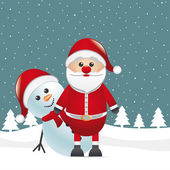 Sněhulák červený nos se santa claus