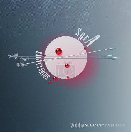 Постер, плакат: Sagittarius constellation symbol, холст на подрамнике
