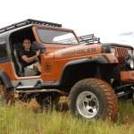 Постер, плакат: Crush Beige Jeep Wrangler Off Roader V8