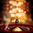 Постер, плакат: Casino Roulette soft background poster with rays