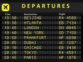 Departure board - destination airports Busiest airports in the world: Beijing Atlanta London New York Frankfurt Dubai Chicago Tokyo and Paris