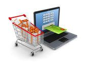 Nakupování online koncept