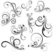 Creative Abstract Conceptual Design Art of Vector Swirls