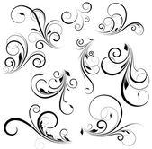 Creative Abstract Conceptual Design Art of Vector Swirls