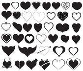 Creative Abstract Conceptual Design Art of Hearts Silhouettes Vectors