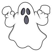 Drawing Art of Cartoon Halloween Horrible Ghost Character Vector Illustration