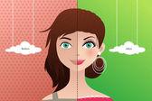Před a po: make-up
