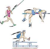 Skok o tyči, skok vysoký a skok daleký