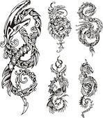 Stilisierte Drachen Knot tattoos