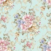 Modello senza saldatura fiori di primavera fresca - per modello senza soluzione di continuità rendendo facile usarlo per riempire eventuali contorni