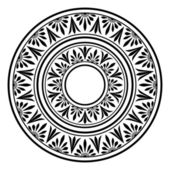 Circle ornament Round frame rosette of ancient elements Greek national antique round pattern vector
