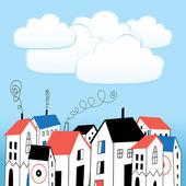 Haus und Blasen für text