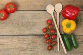 Zdravé vaření s čerstvou zeleninou ingredience