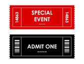 červeno černá akce ticket