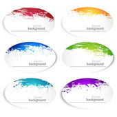 Set of banners with spray paint Vector background