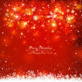 Red abstract background with snowflakes