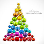 Christmas tree of colored balls Vector