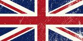 Illustration of a vintage United Kingdom flag