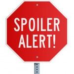 Постер, плакат: Spoiler Alert roadsign