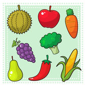 Image of nature products fruits and vegetables EPS8 vector file