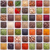 Velká sbírka různých koření a bylin