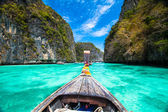 Wooden boat on Phi Phi island, Thailand.