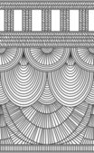 Curtains vertical seamless backdrop black and white drawing