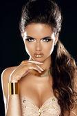 Glamour lady. módní krásy dívka. nádherná žena portrét. styl