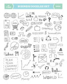 Hand drawn vector illustration of business doodles elements Isolated on white background