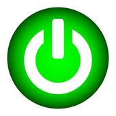 Power button on white background
