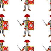 Roman legionaries seamless pattern - vector illustration