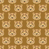 Seamless pattern with cute leopards a dark yellow background