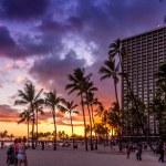 Постер, плакат: Waikiki Beach at the Hawaiian Hilton Village