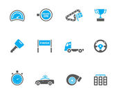 Racing icon series in colors EPS 10 AI PDF & transparent PNG of each icon included Font Used: Droid Sans Dejavu Sans