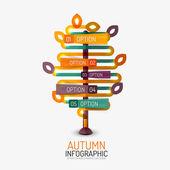 Podzimní možnost infographic, banner minimalistický design