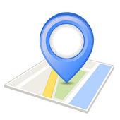 Modrý špendlík na mapě
