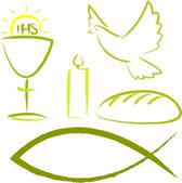 Svaté přijímání - náboženské symboly