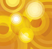 Vector Yellow and Orange Abstract Rounded Background