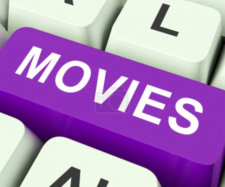 Постер, плакат: Movies Key Means Films Or Movi, холст на подрамнике