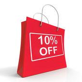 Bevásárló táska mutatja akció kedvezmény 10 %, le 10