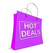 Forró ajánlatok a bevásárló szatyrok mutatja olcsón eladó és megtakarítás
