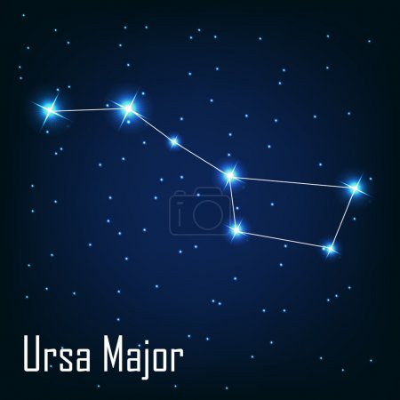 Постер, плакат: The constellation Ursa Major star in the night sky , холст на подрамнике