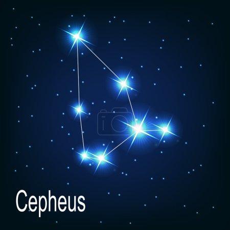 Постер, плакат: The constellation Cepheus star, холст на подрамнике