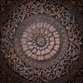 Thai style wood caving pattern.