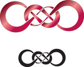 Abstract design of double infinity perfect as a tattoo