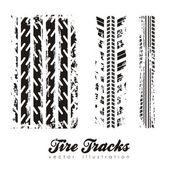 Illustration of tire marks on white background vector illustration