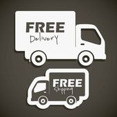 Illustration of icons shipments and free delivery vector illustration